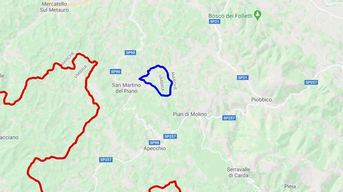 Cartina Politica Umbria E Marche.La Storia Dell Isola Amministrativa Di Monte Ruperto Un Pezzo Di Umbria Dentro Le Marche Teverepost